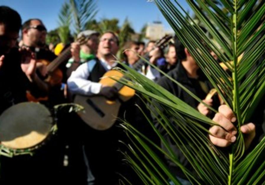 Christians in Jerusalem celebrated Palm Sunday
