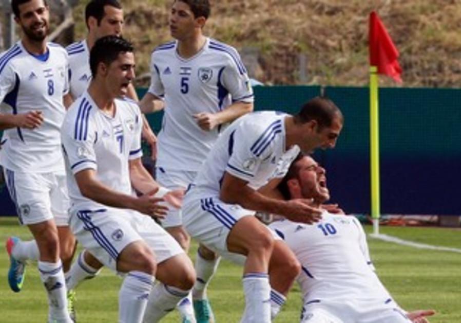 Israel soccer team.