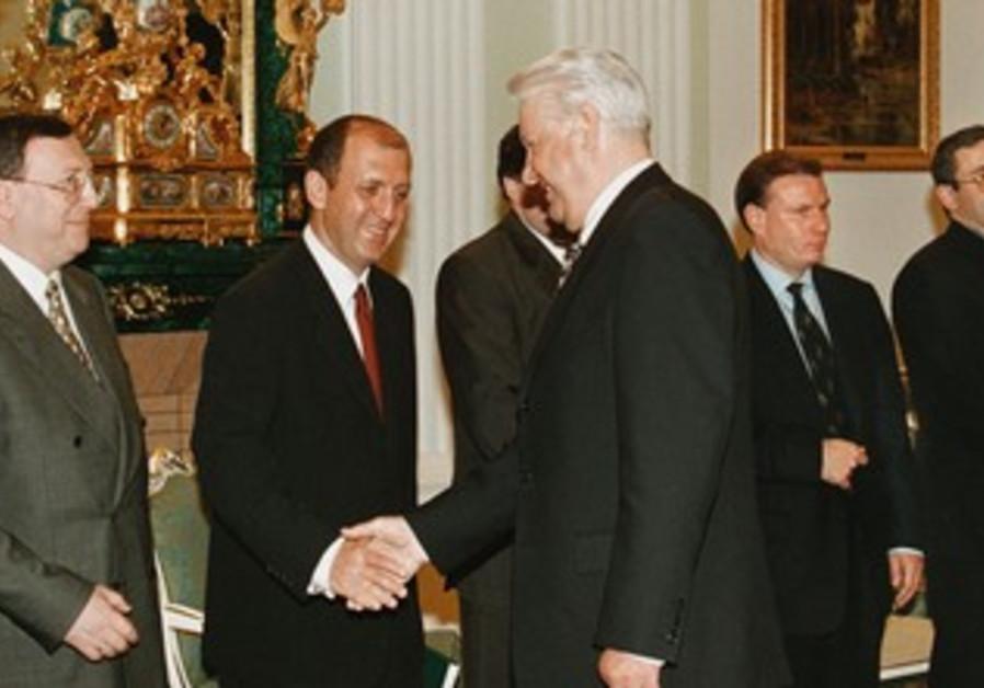 Former Russian President Boris Yeltsin with Vitaly Malkin