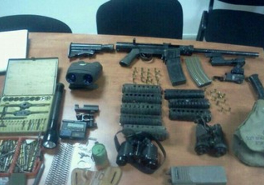 Illegal weapons & ammunition cache confiscated in Hebron, March 26