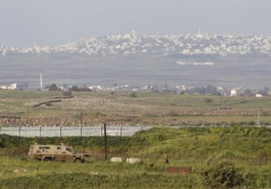 Israeli Syrian border in the Golan Heights
