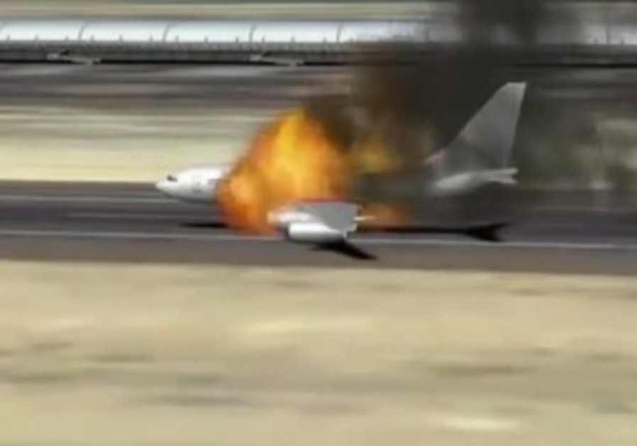 Iranian plane allegedly goes up in flames at Syira airport