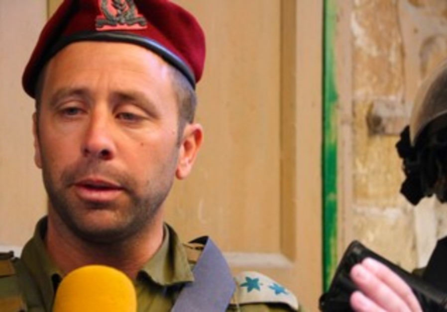 Brigade Commander Col. Avi Bluth in Hebron on March 28, 2013.