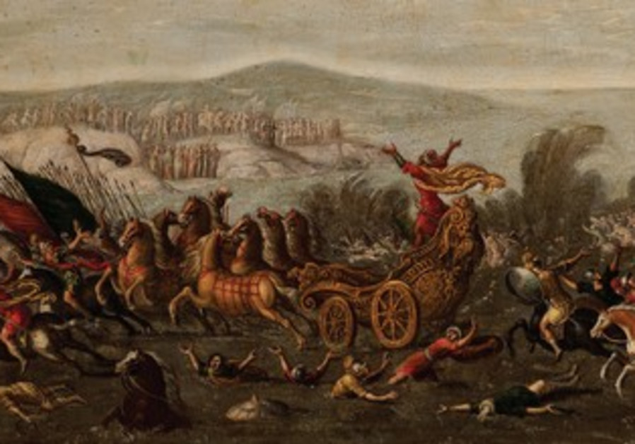 'THE ISRAELITES crossing the Red Sea' by Juan de la Corte.