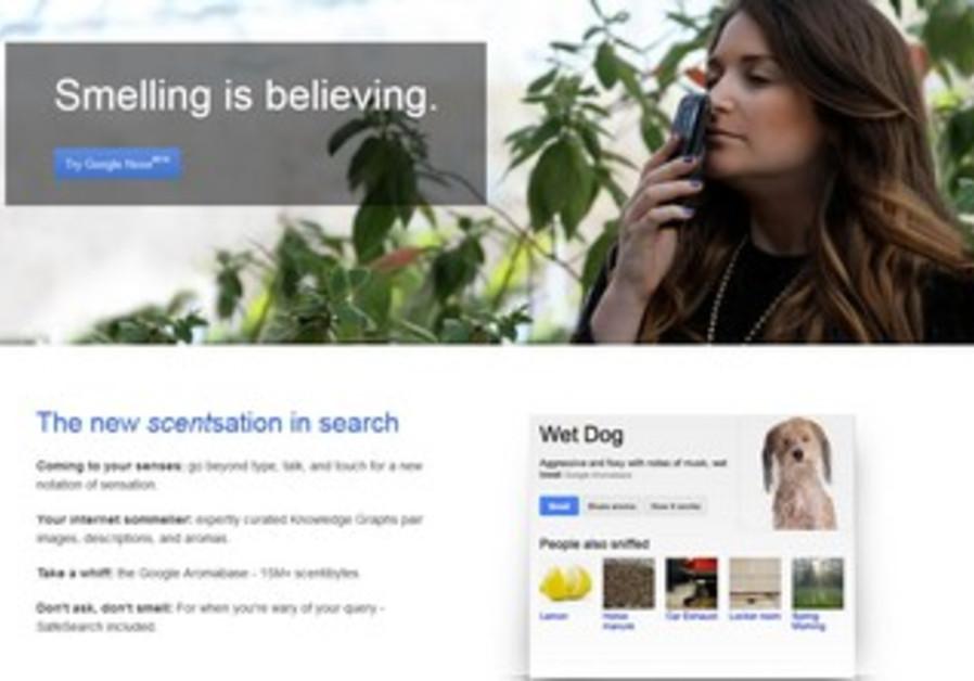 Screenshot of Google's April Fool's joke.