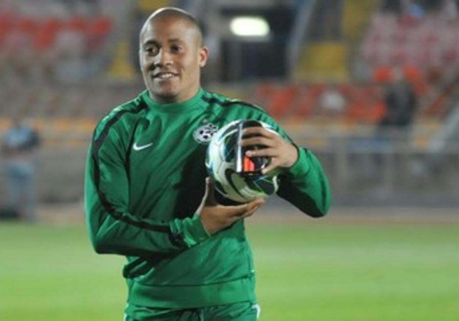 MACCABI HAIFA striker Dino Ndlovu