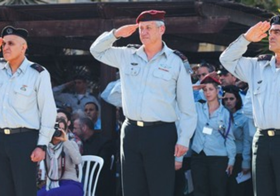 The changeover ceremony in Beersheba yesterday