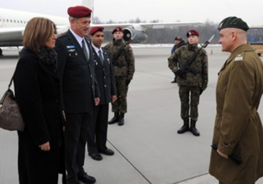 Chief of General Staff Lt.- Gen. Benny Gantz in Poland Sunday.