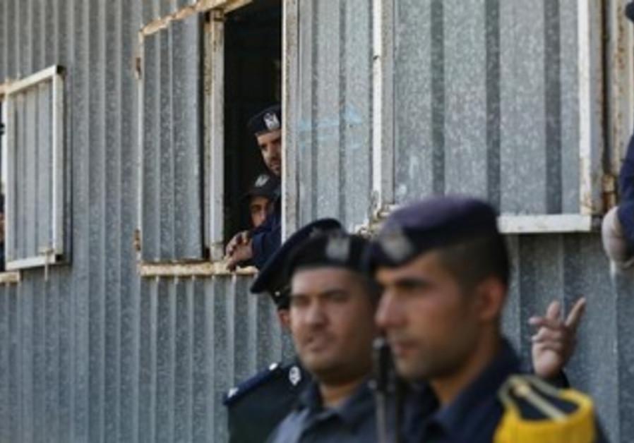 Hamas policemen at a Hamas security forces graduation ceremony.