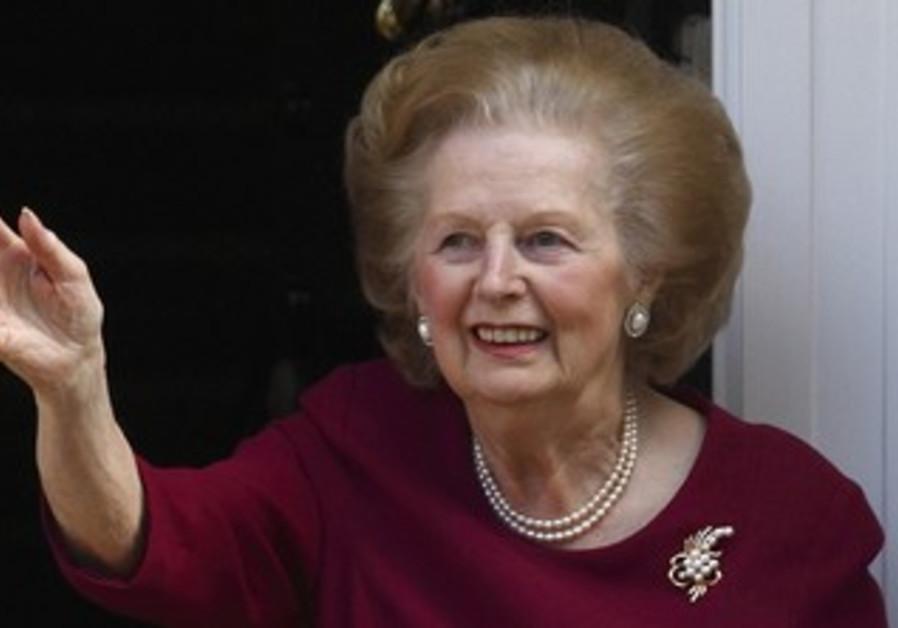 Former British PM Margaret Thatcher