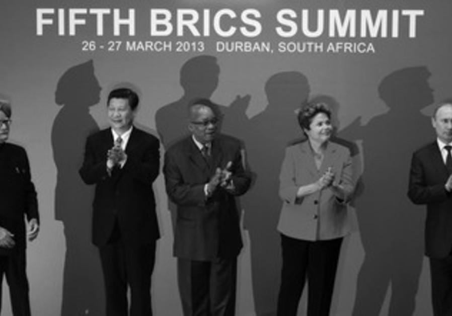 WORLD LEADERS at the BRICS summit. (