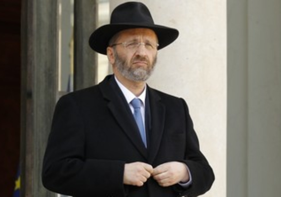 French chief rabbi Gilles Bernheim.