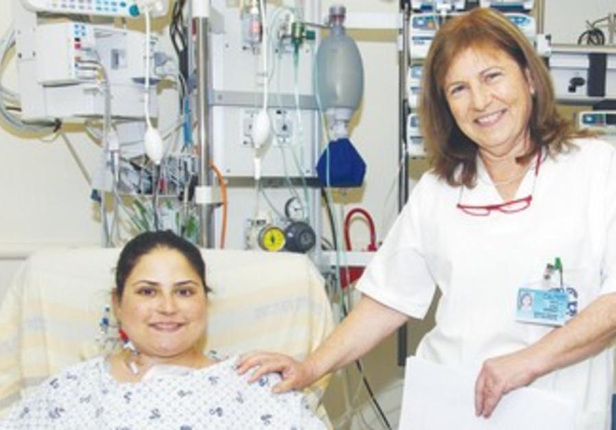 TRANSPLANT COORDINATOR Yedida Shemesh with Dikla Cohen