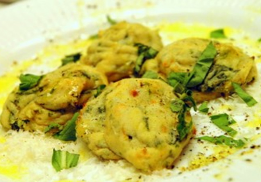 Spinach and cheese Gnudi