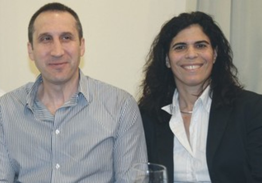 David Blatt (left) and 1992 Barcelona Olympics silver medalist Yael Arad at Kfar Maccabiah