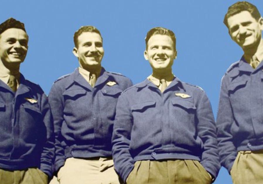 THE IAF's first graduating class, 1949: Shaya Gazit, Motti Hod, Danny Shapira and Tibi Ben-Shahar