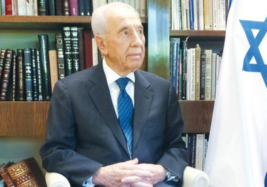 President Shimon Peres in his office