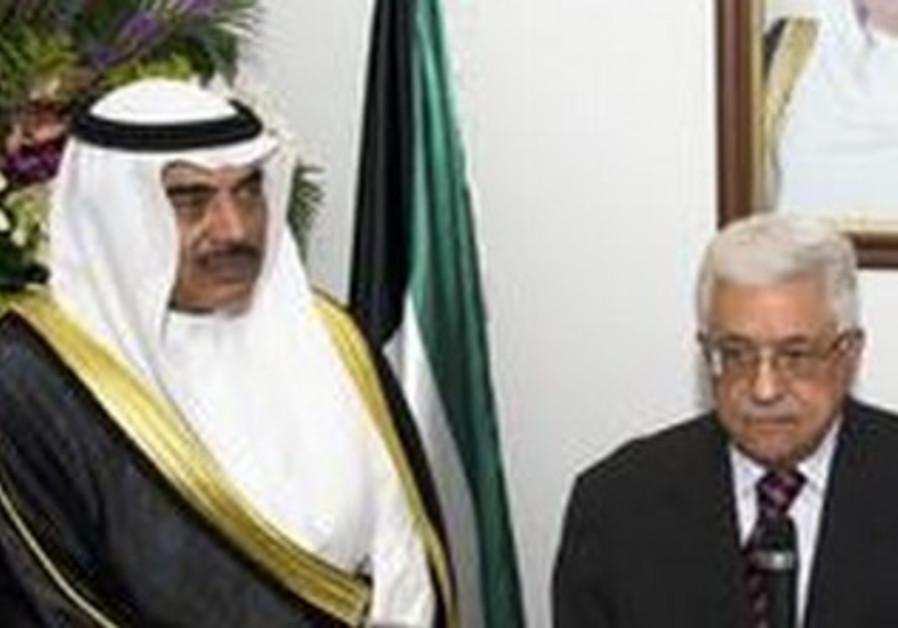 PA President Mahmoud Abbas,  Kuwaiti Deputy PM Sheikh Sabah al Khalid al-Sabah.