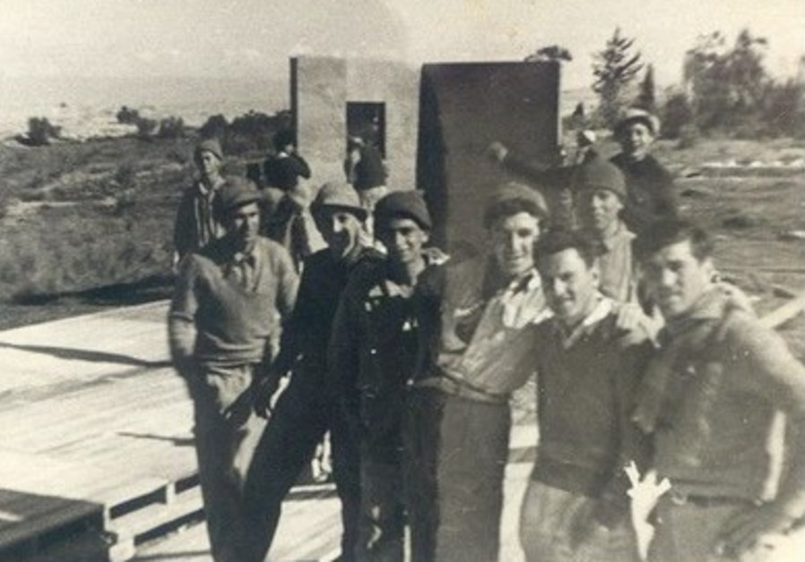 Tzvi Goldner during the Tower and stockade period.