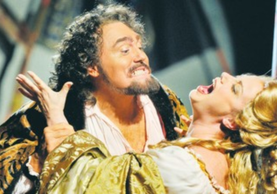 VERDIAN VICTIMS: Gustavo Porta (Otello) and Ira Bertman (Desdemona) in 'Otello.'