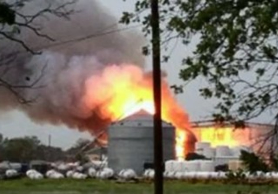 Fertilizer plant explosion in Texas, April 17, 2013.