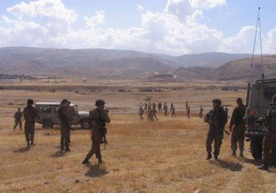 IDF soldiers train in the Jordan Valley.