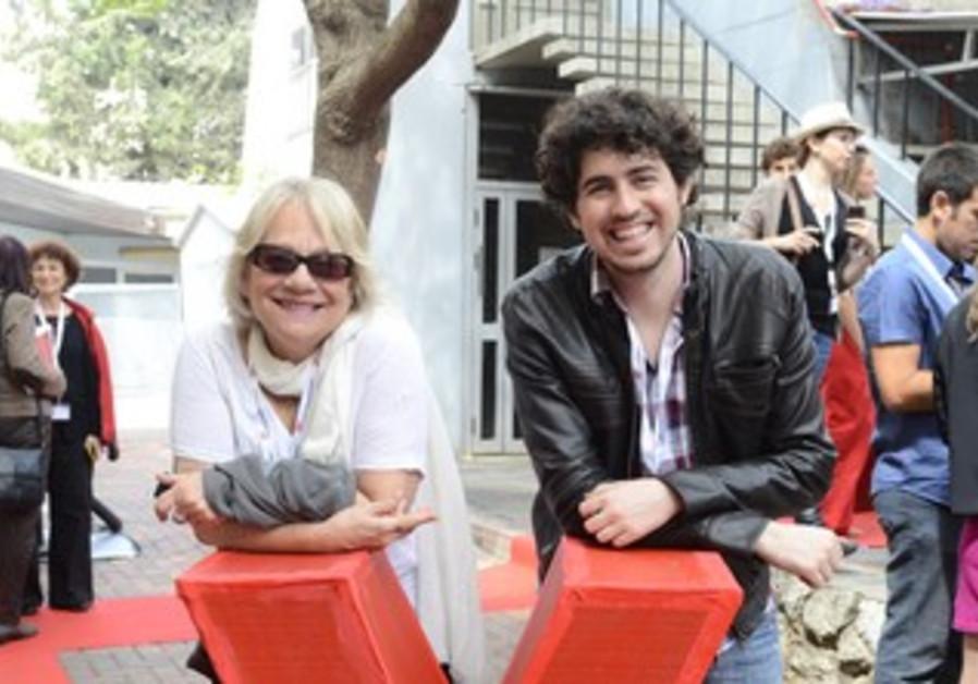 President of Kibbutzim College of Education Zipi Libman and Roi Shternin