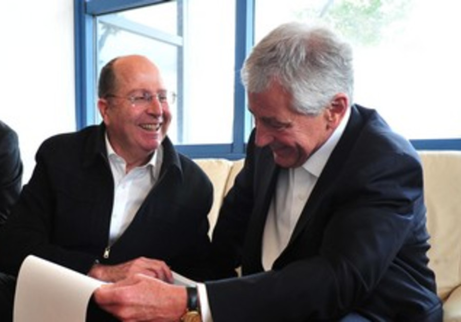 Chuck Hagel and Moshe Ya'alon