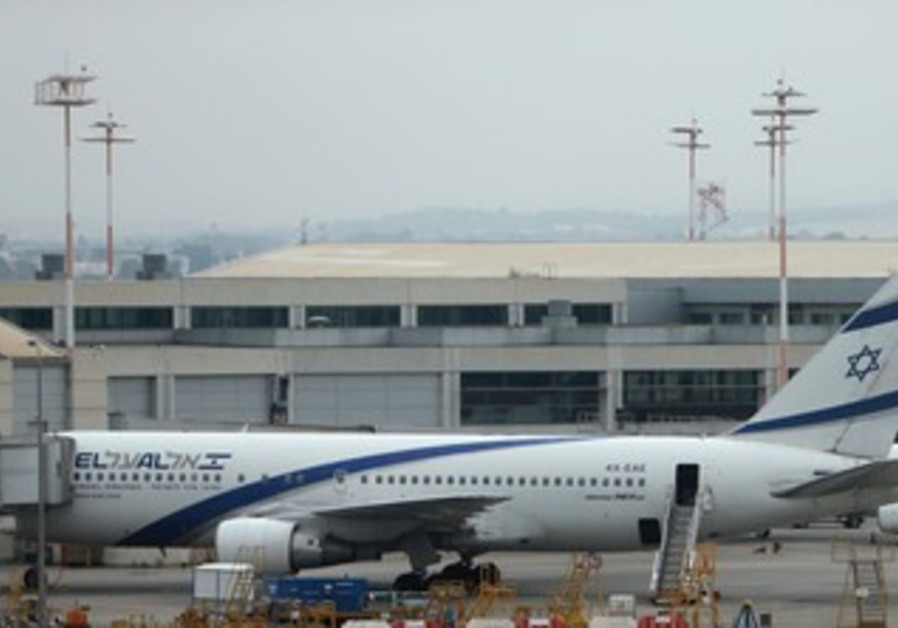 EL AL planes lie at rest at Ben-Gurion Airport earlier this week due to a strike