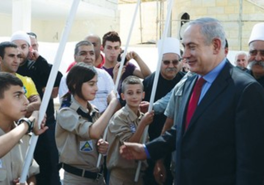 PRIME MINISTER Binyamin Netanyahu visits Julius, a Druse village in the Galilee