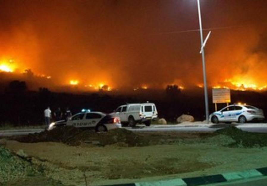 Modi'in forest fire, April 27, 2013.