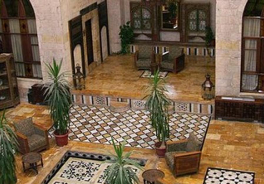 Dar Zamaria mansion, nowadays a hotel in Aleppo.