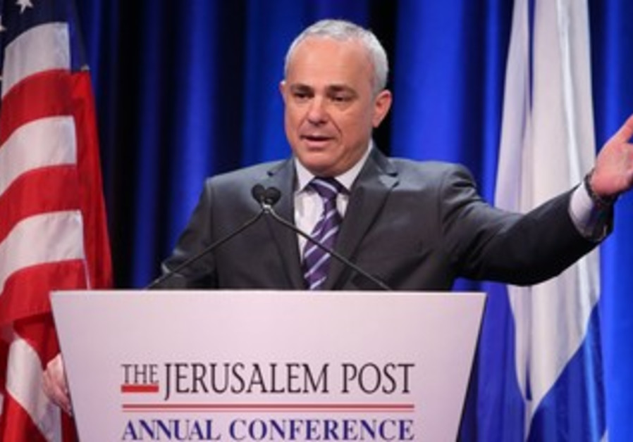 Strategic Affairs Minister Yuval Steinitz at the Jerusalem Post Conference, April 28, 2013.