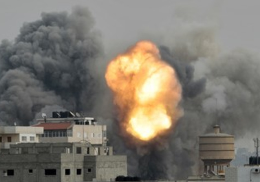 Smoke rises from IAF strike in Gaza during Operation Pillar of Defense, Nov. 2012