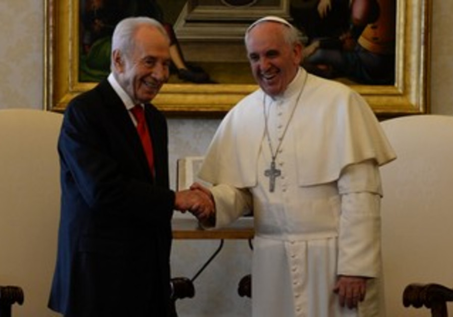 Pope Francis and President Shimon Peres April 30, 2013