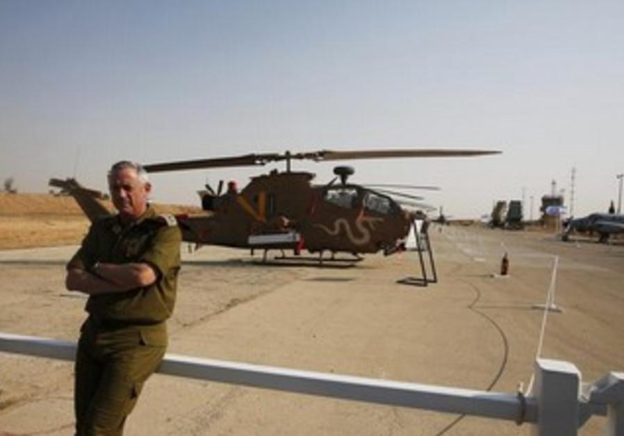 IDF Chief of Staff Lt.-Gen. Benny Gantz at Hatzerim Air Force Base in South