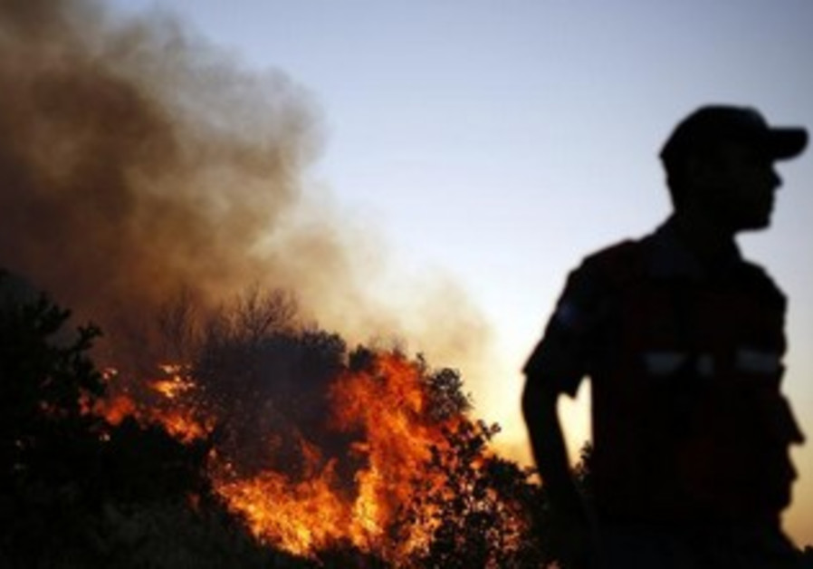 Air pollution created by lag baomer fires.