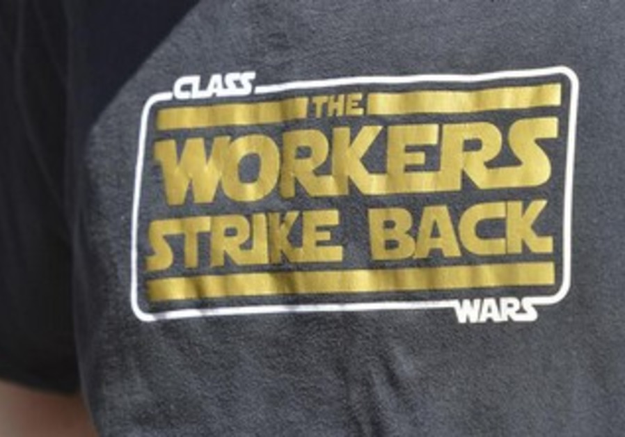 A t-shirt worn in support of International Workers' Day