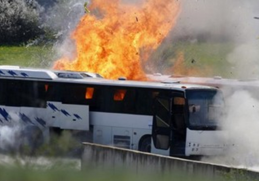 Investigators recreate the Hezbollah Bulgaria bus bombing last July which targeted Israeli tourists
