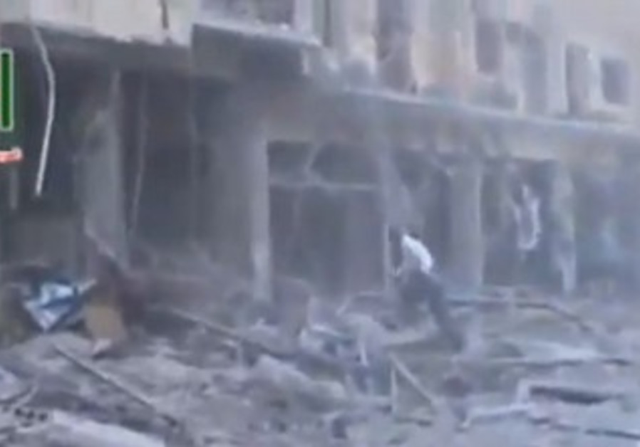 A screenshot from footage claimed to be of an alleged Israeli air strike in Syria, May 4, 2013.