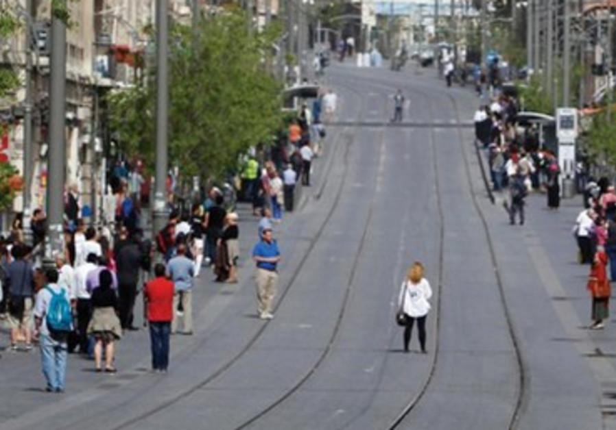 La rue Yaffo, artère principale de la capitale israélienne.