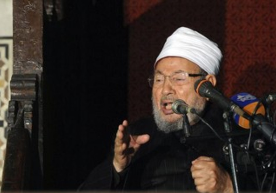 Egyptian Cleric Sheikh Yusuf al-Qaradawi, chairman of the International Union of Muslim Scholars