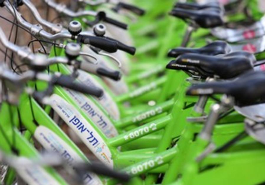 Tel Aviv bike sharing system Tel Ofan.