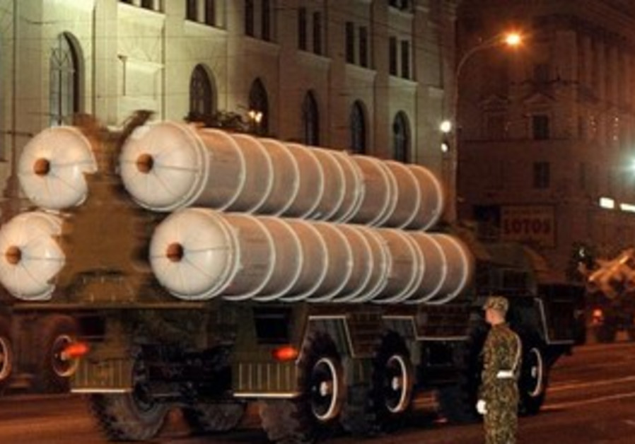 S-300 mobile missile launching complex [Illustrative].