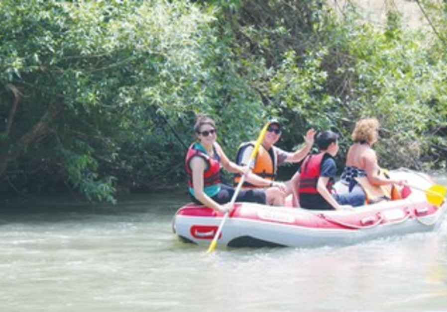RAFTING ON the Jordan River in the Upper Galilee amid the sounds of IDF tank and aerial exercises.