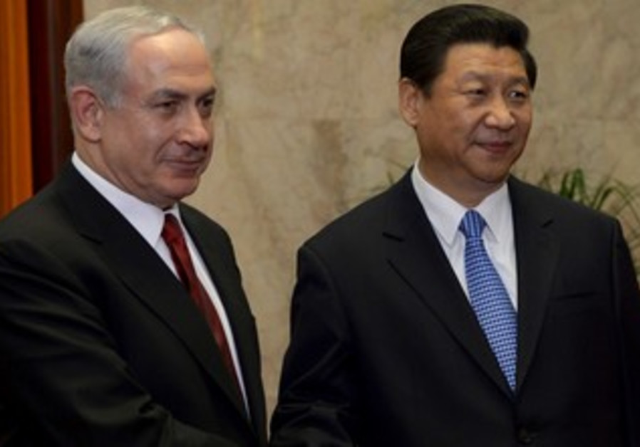 Prime Minister Binyamin Netanyahu with Chinese President Xi Jinping, May 9, 2013.