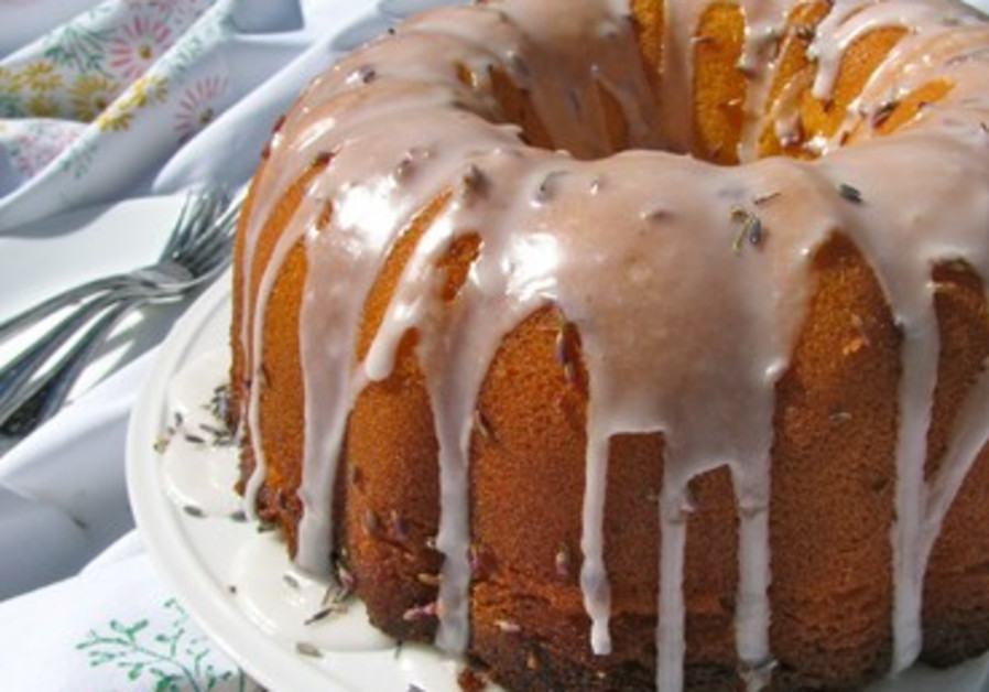 White Chocolate Lavender Pound Cake