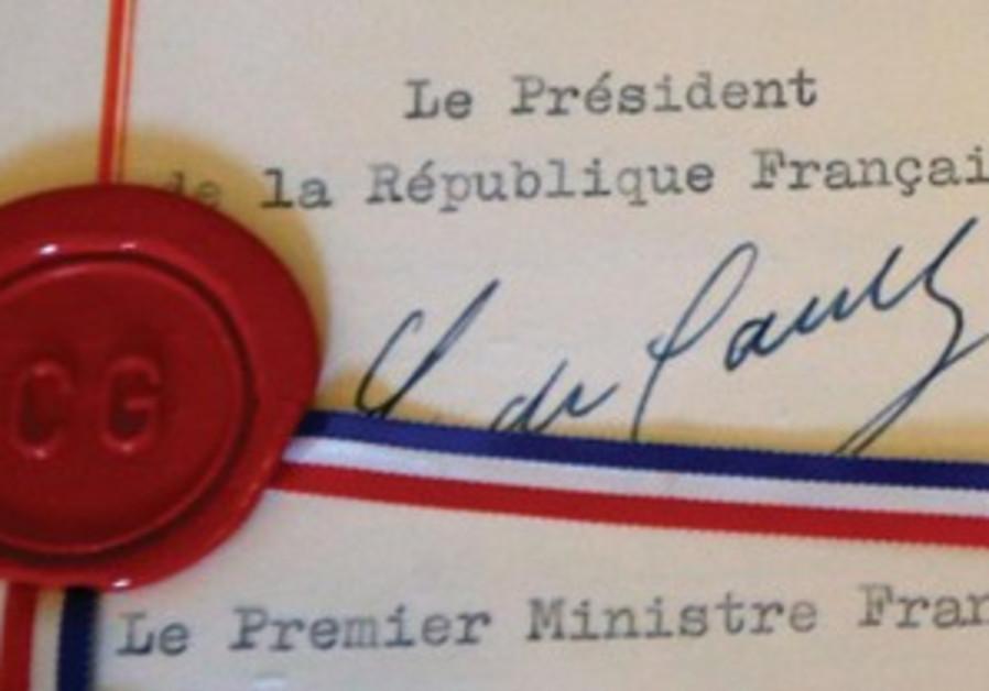 La signature de Charles de Gaulle.