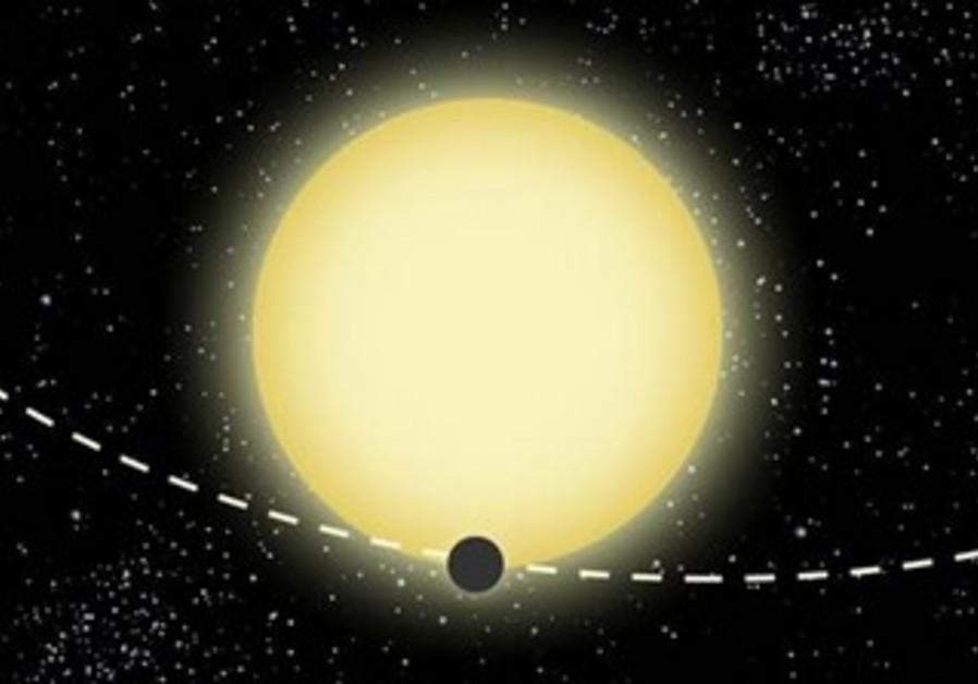 Illustration of Kepler-76b by Dood Evan.