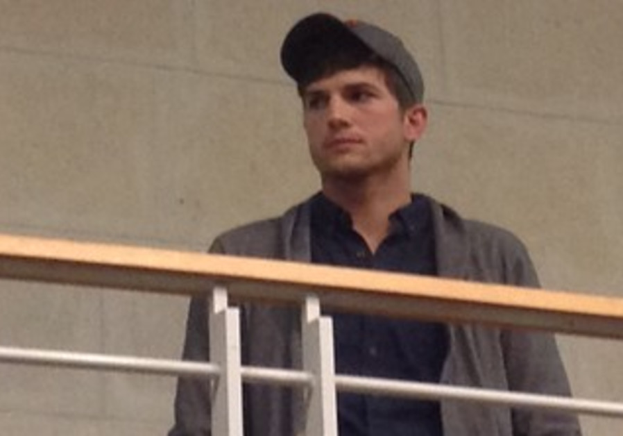 Ashton Kutcher at hi-tech gathering in Tel Aviv